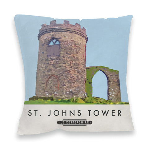 St Johns Tower, Leicestershire Fibre Filled Cushion