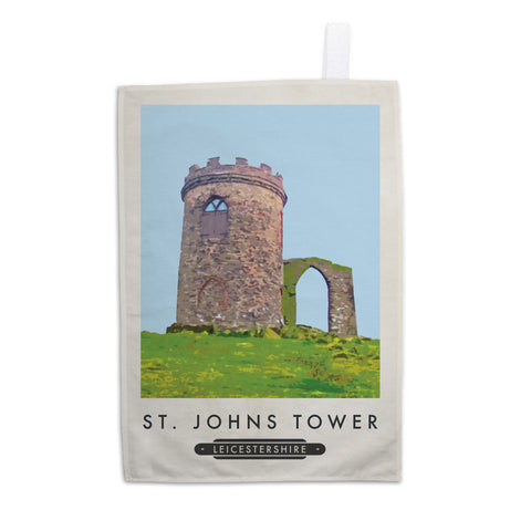 St Johns Tower, Leicestershire Tea Towel