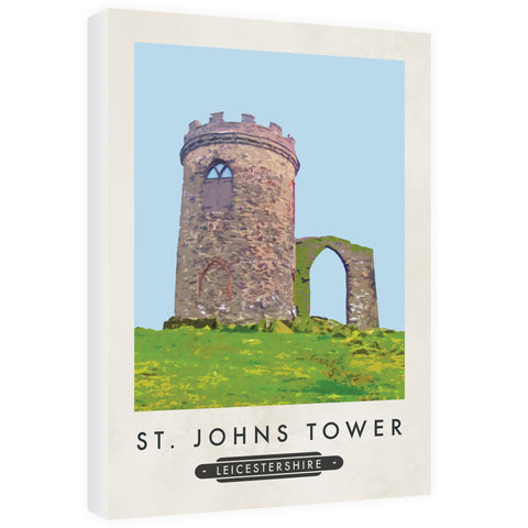 St Johns Tower, Leicestershire 60cm x 80cm Canvas