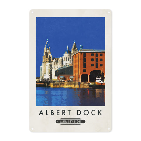 Albert Dock, Liverpool Metal Sign