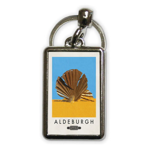 Aldeburgh, Suffolk Metal Keyring