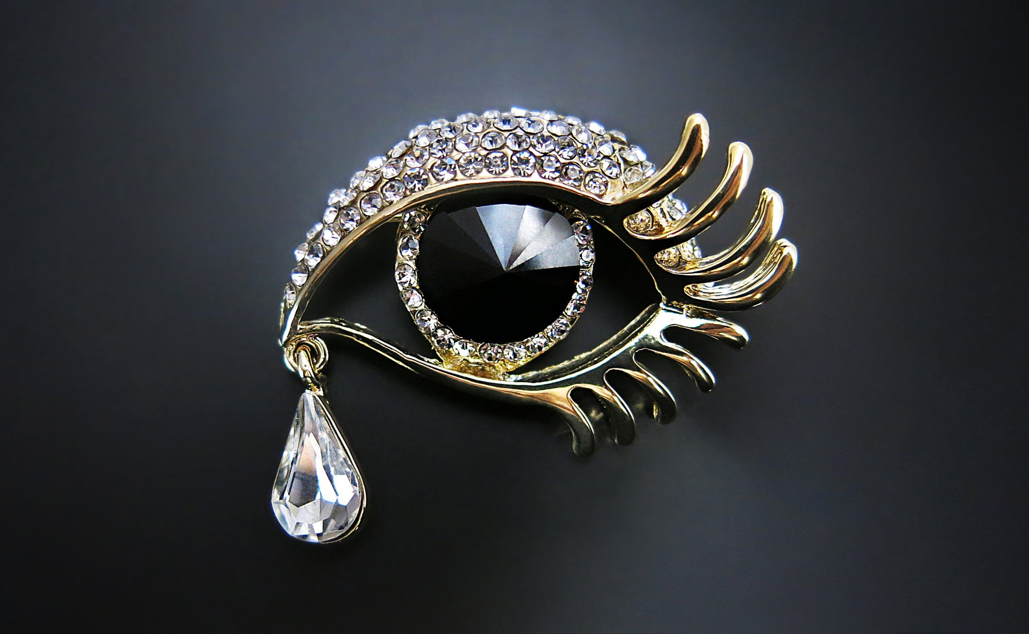 London Lash Eye Brooch/pin