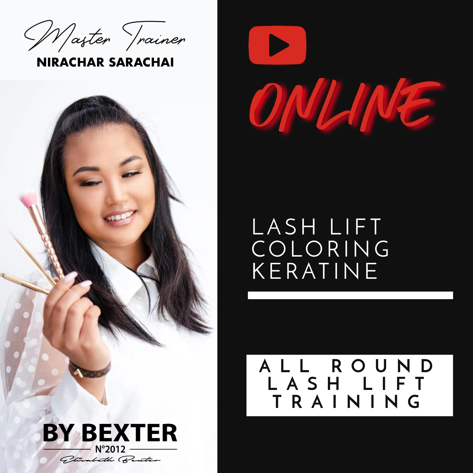 ONLINE BY BEXTER LASH LIFT & KERATINE TRAINING