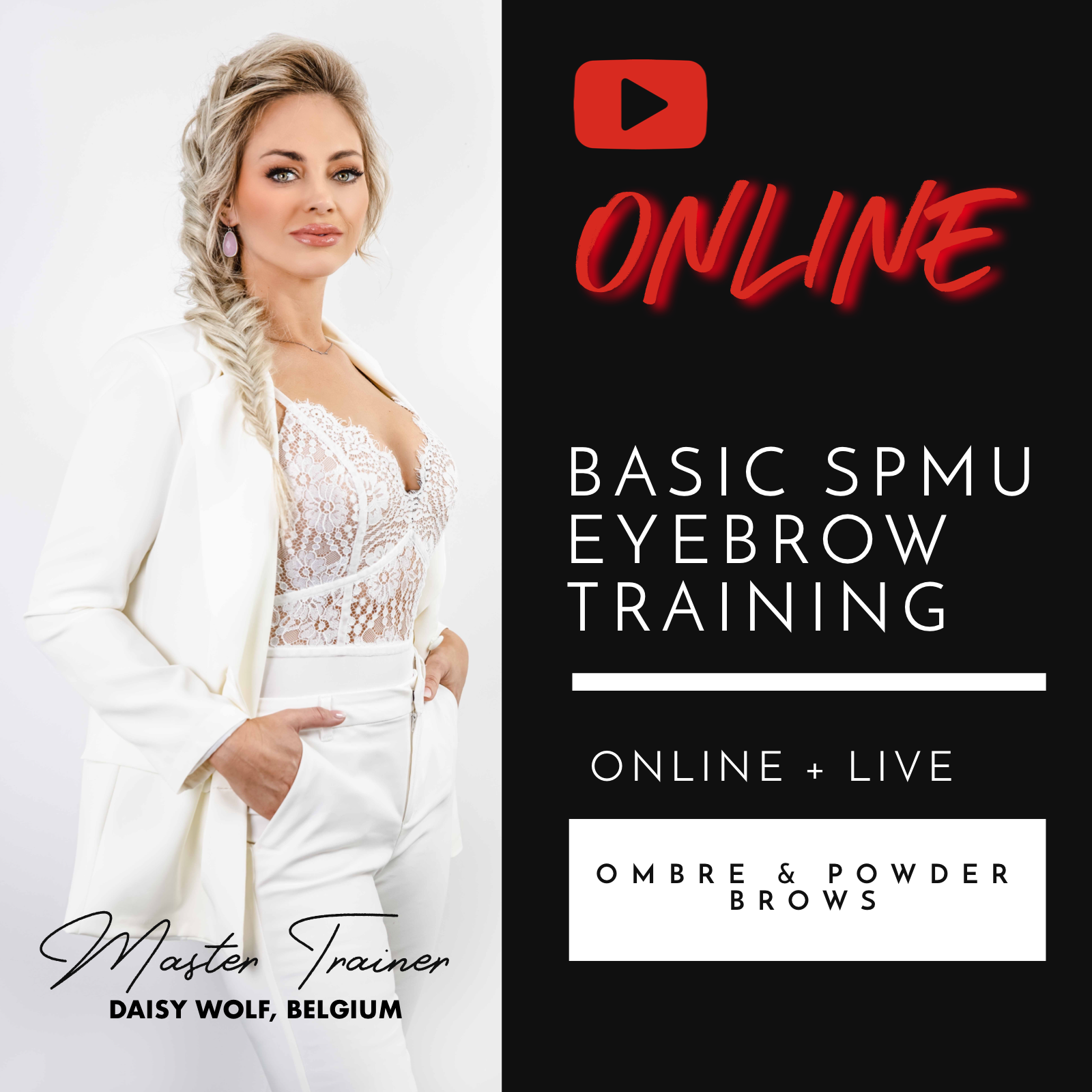 ONLINE BASIC SPMU EYEBROWS COURSE OMBRE & POWDER BROWS