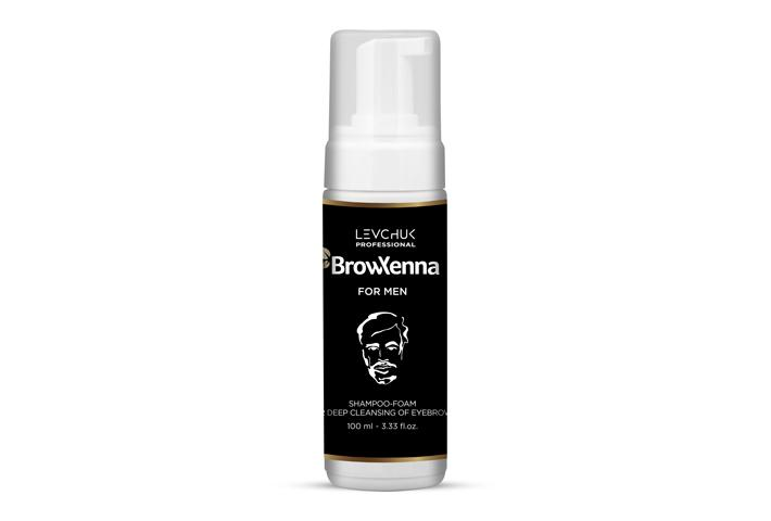 Shampoo-foam for deep cleansing of eyebrows for men, BrowXenna®