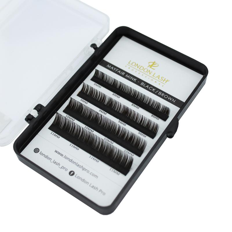 0.07 MIXED SIZE CC-CURL BLACK BROWN MAYFAIR MINK LASHES (SAMPLE BOX)