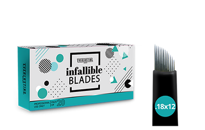 C-shape Box of 20 Slanted 0.18mm / 12 needle blades