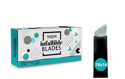 C-shape Box of 20 Slanted 0.18mm / 14 needle blades