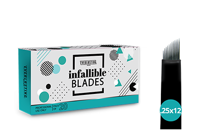 C-shape Box of 20 Slanted 0.25mm / 12 needle blades