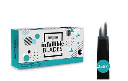 C-shape Box of 20 Slanted 0.25mm / 7 needle blades