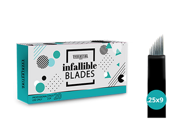 C-shape Box of 20 Slanted 0.25mm / 9 needle blades
