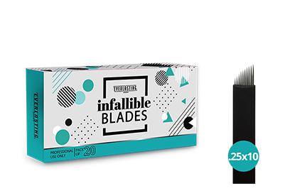 C-shape Box of 20 Slanted 0.25mm/10 needle blades