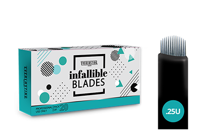 U-shape Box of 20 0.25 needle blades