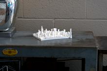 Chicago City Skyline / Downtown 3D Printed - WHITE