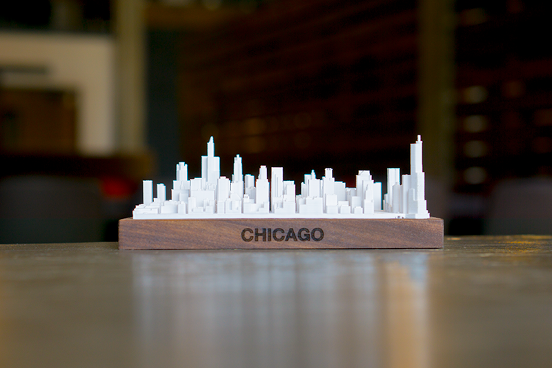 Chicago City Skyline / Downtown 3D Printed