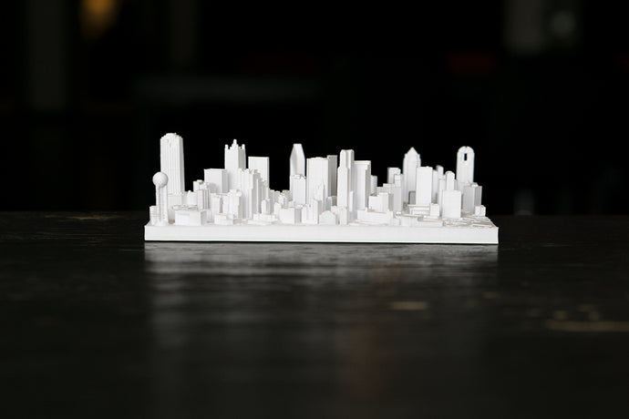 Dallas Texas City Skyline / Downtown 3D Printed - WHITE
