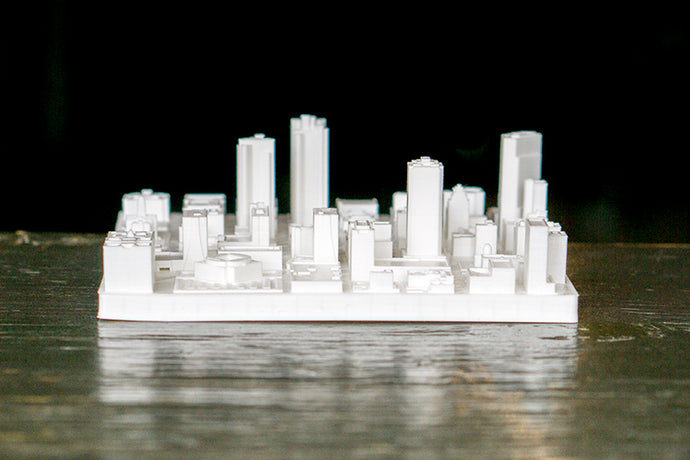 Fort Worth Texas City Skyline / Downtown 3D Printed - WHITE