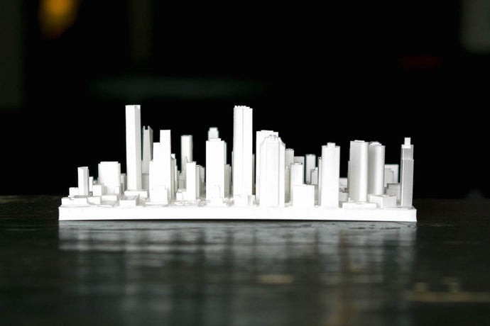 Houston Texas City Skyline / Downtown 3D Printed - WHITE
