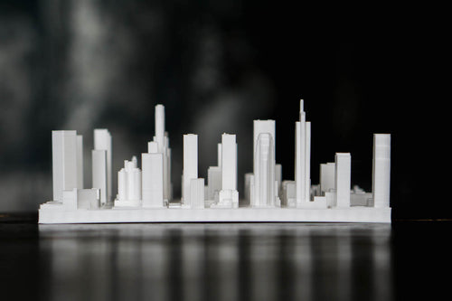 Los Angeles City Skyline / Downtown 3D Printed - WHITE