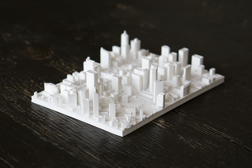 Denver Colorado City Skyline / Downtown 3D Printed - WHITE