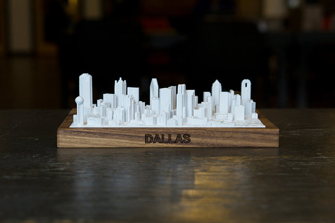 Dallas Texas City Skyline / Downtown 3D Printed