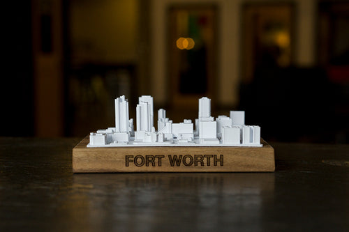 Fort Worth Texas City Skyline / Downtown 3D Printed