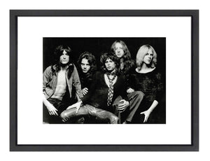 An image of all the members of Aerosmith