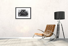 An image of the Black Sabbath print modeled in a stylish room.
