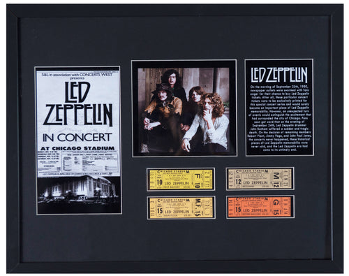 RARE - 4 Tickets from Led Zeppelin Cancelled Concert