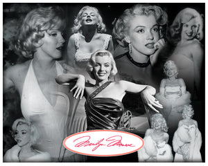Marilyn Monroe iconic images collage