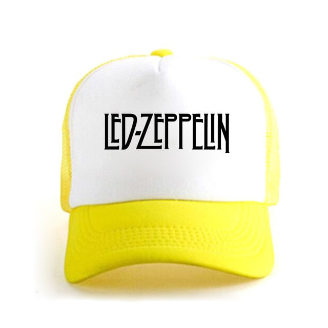 Yellow Led Zeppelin baseball hat