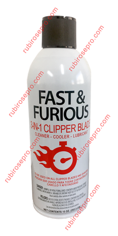 Fast & Furious 3 in 1 clipper blade cleaner, cooler, and lubricant