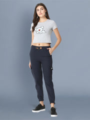 Skinny Navy Blue Side Pocket Twil Pencil Jogger Jeans-2471