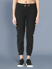 Skinny Black Side Pocket Twil Pencil Jogger Jeans-2472