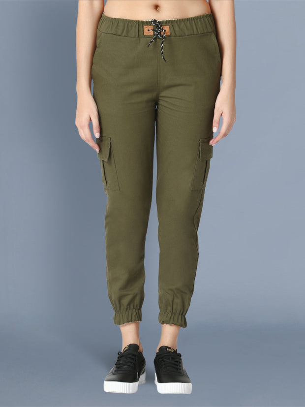 Skinny Green Side Pocket Twil Pencil Jogger Jeans-2473
