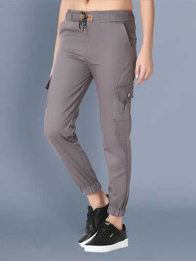 Skinny Grey Side Pocket Twil Pencil Jogger Jeans-2475