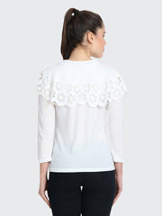 Imported Crepe Cut-Outs Top