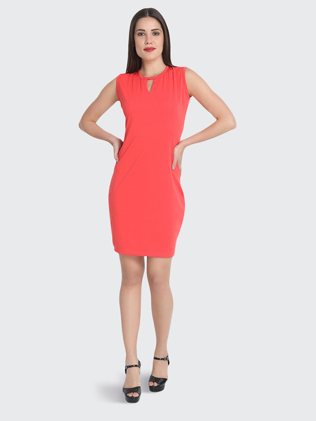 Gajri Cotton Blend Knee-Length Bodycon Dress-2224