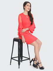 Gajri Cotton Blend Frill Bodycon Dress-2229