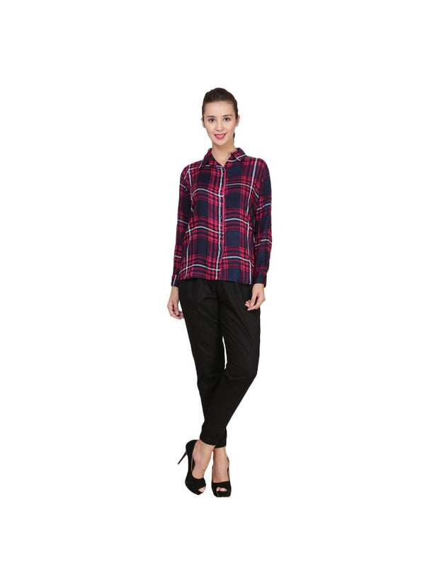 Multi Cotton Full Sleeve Check Shirt-1682