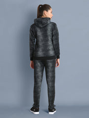 Wollen Blend All-Over Splatter Print Womens Full Tracksuit with Hoodie-2395