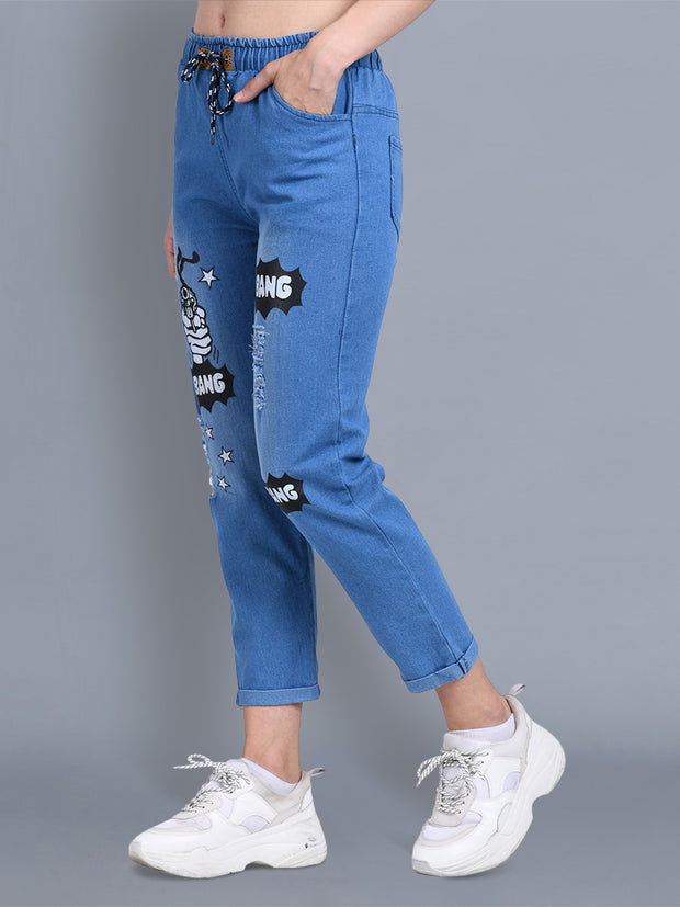 Light Blue Bang Bang Denim Jogger Jeans-2326