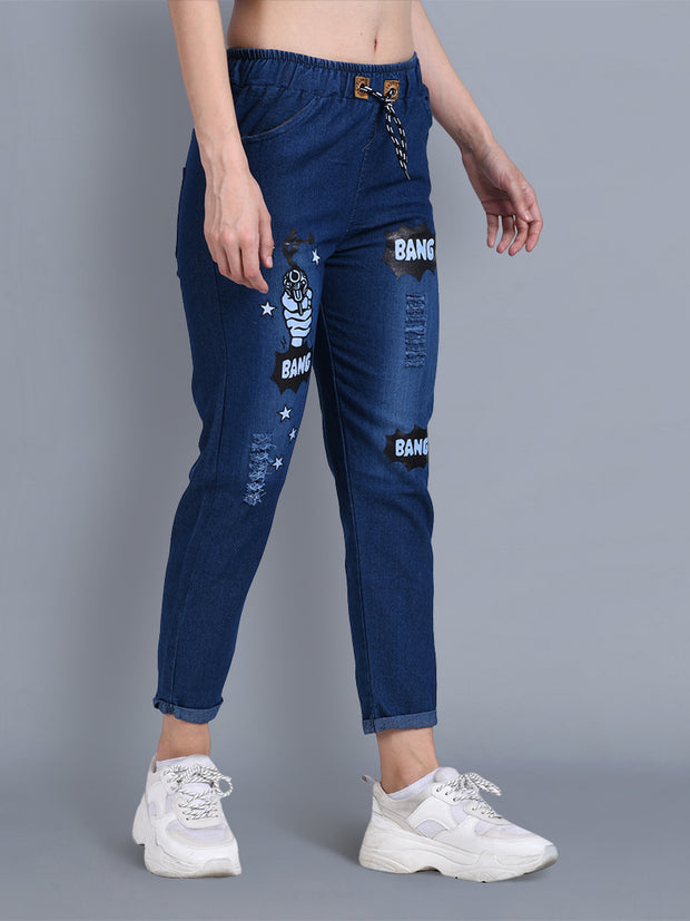 Dark Blue Bang Bang Denim Jogger Jeans-2328