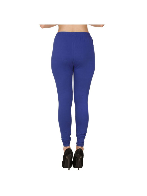 Royal Plain Full Length Cotton Churidar Legging-Royal
