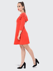 Gajri Imported Crepe Cut-Outs Midi Dress-2070