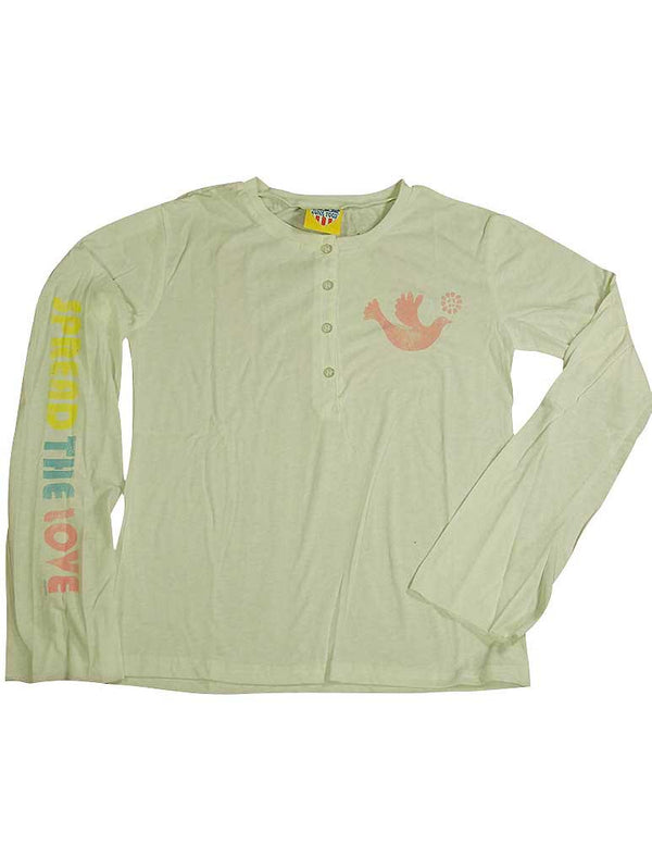Junk Food - Big Girls' Long Sleeve Henley Tee Shirt