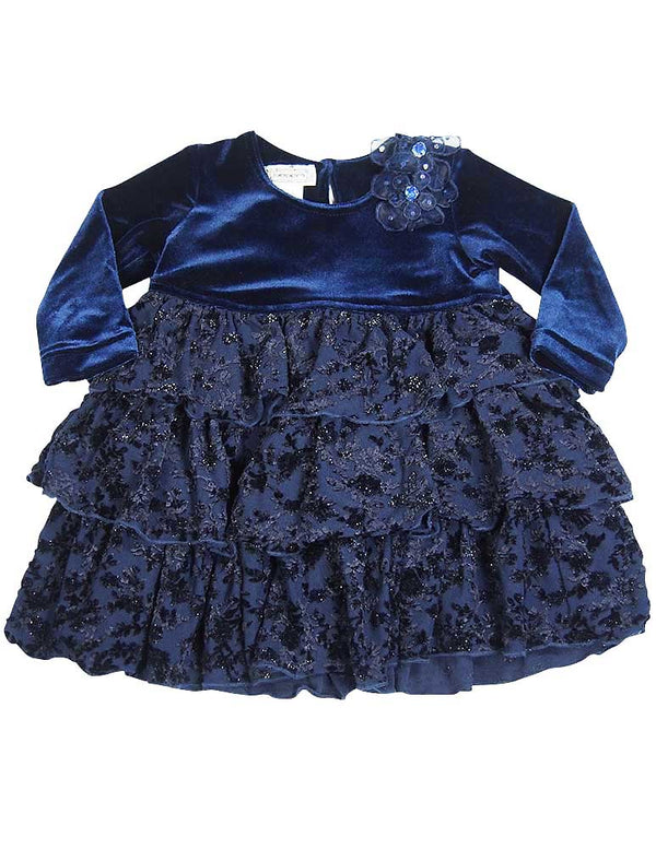 Jumpers - Baby Girls Velour Dress