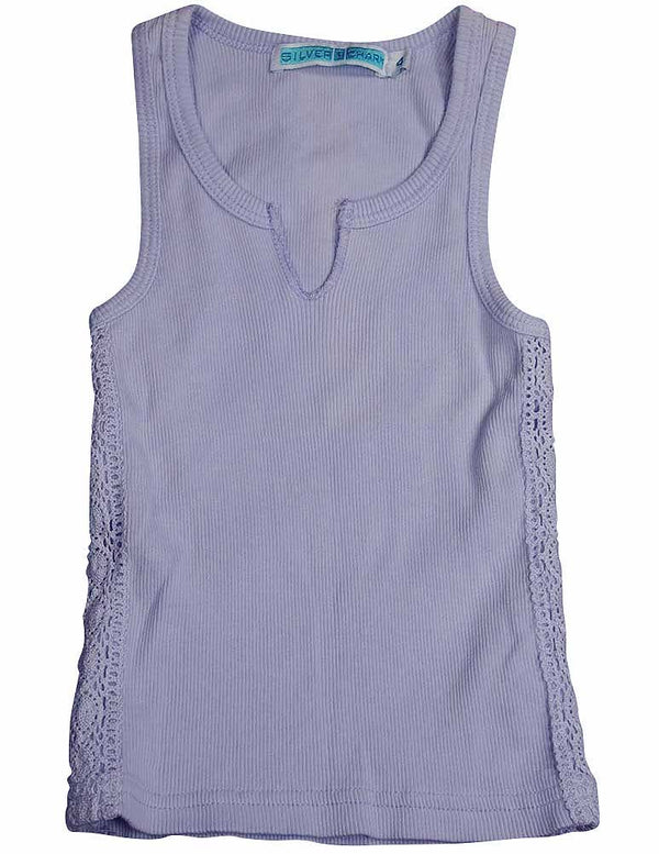 Silver Charm - Little Girls' Ribbed Tank