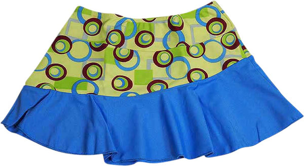 Banana Cabana by Plum Pudding - Little Girls' Daisy Print Skirt