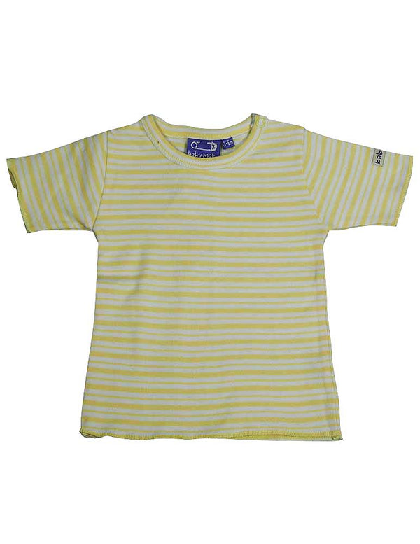 Mak the Yak - Baby Boys Striped Short Sleeve Top